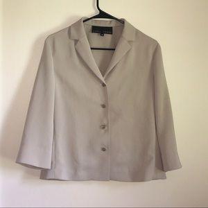 Yansi Fugel Tan M Blazer Career Designer USA Made